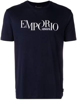 Emporio Armani logo printed short sleeve T-shirt