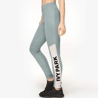 Ivy Park Sheer Flocked Logo Leggings - Women's