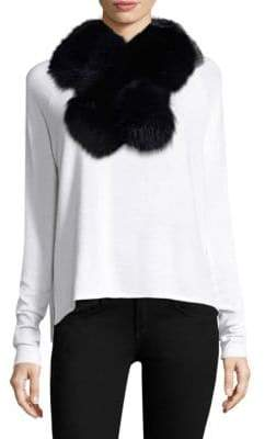 Surell Two-Tone Fox Fur Pull-Through Scarf