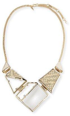 Alexis Bittar Raffia & Lucite Statement Necklace $295 thestylecure.com