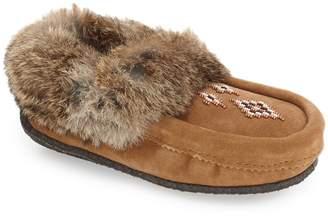 Manitobah Mukluks Genuine Shearling and Rabbit Fur Mukluk Slipper