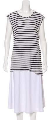 Pam & Gela Striped Short Sleeve Top