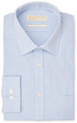 MICHAEL Michael Kors Small Check Slim Fit Dress Shirt