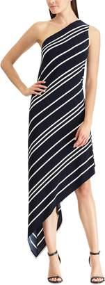 Chaps Women's Striped Asymmetrical Dress