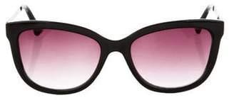 Oscar de la Renta Square Tinted Sunglasses