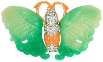 Kenneth Jay Lane Jade Coral Butterfly Pin