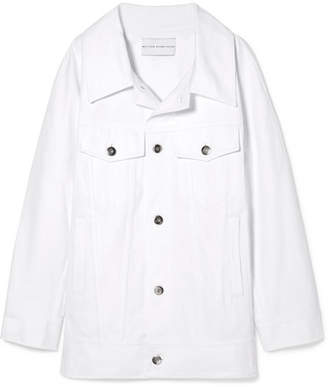 Matthew Adams Dolan Oversized Denim Jacket - White