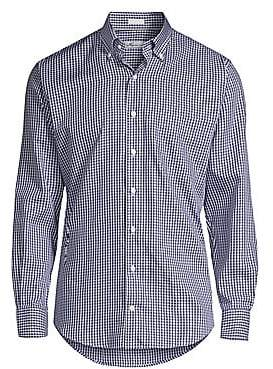 Peter Millar Men's Gingham Plaid Shirt