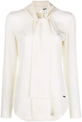 DSQUARED2 neck-tied fitted blouse