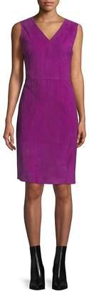 Elie Tahari Women's Annmarie Suede Stitched Dress