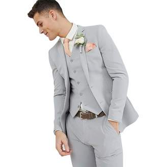 9a1ea8dde72c Fashion Suit Mens Summer Thin Relax 3 Pieces Slim Fit Tuxedo Groom Single  Breasted Stylish Suits