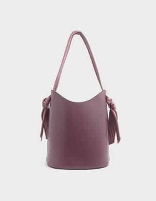 Charles & Keith Knot Handle Bucket Bag