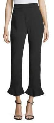 Natori Crepe Ruffle-Hem Pants