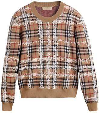 Burberry Scribble Check Merino Wool Sweater