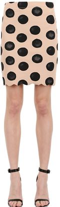 Polka Dot Scalloped Hem Lycra Skirt $314 thestylecure.com