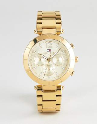 Tommy Hilfiger 1781878 Chronograph Bracelet Watch In Gold 38mm