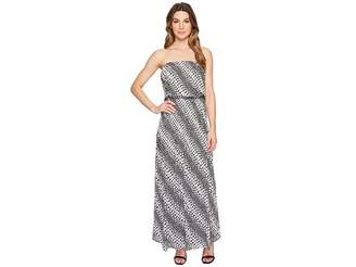 MICHAEL Michael Kors Bias Flower Maxi Dress Women's Dress