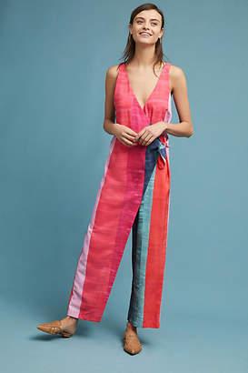 Mara Hoffman Striped Wrap Jumpsuit