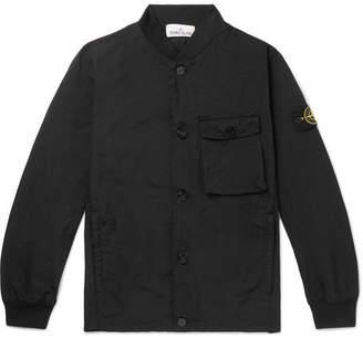 Stone Island Garment-Dyed Canvas Bomber Jacket