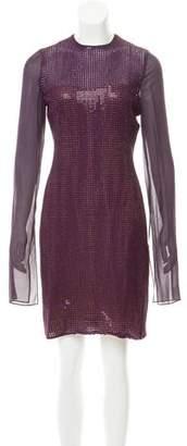 Akris Sequined Knee-Length Dress