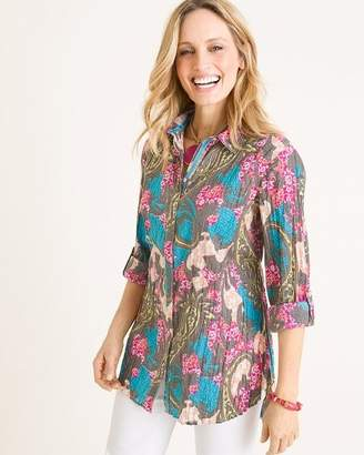 Chico's Cino For CINO for Multi-Colored Paisley Crinkle Tunic