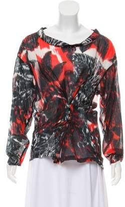 Dries Van Noten Long Sleeve Printed Top