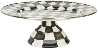 Mackenzie Childs Courtly Check Enamel Pedestal Platter