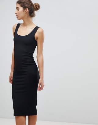 Miss Selfridge Basics Ribbed Bodycon Midi Dress