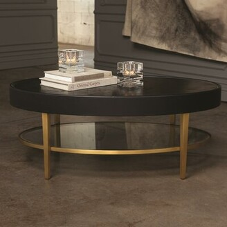 Global Views Ellipse Coffee Table with Tray Top