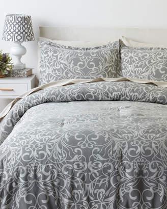 Manor Hill 8-Piece Grey Casablanca Queen Comforter & Sheet Set