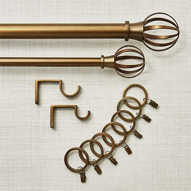 Bristol Antique Bronze Curtain Rod Set
