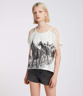AllSaints Riders Slash Shoulder T-Shirt