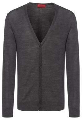 HUGO Slim-fit cardigan in a Merino wool blend