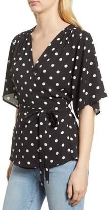 Gibson Kimono Sleeve Wrap Top (Regular & Petite)