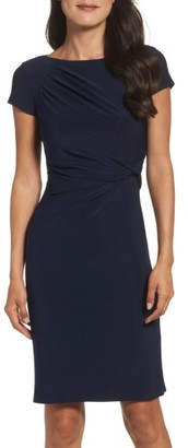 Women's Eliza J Twist Waist Sheath Dress $118 thestylecure.com