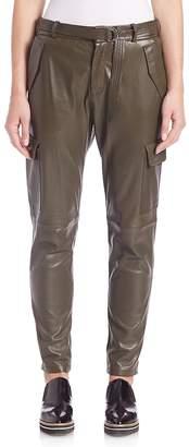 SET Women's Leather Cargo Pants