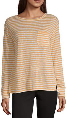 A.N.A Long Sleeve Drop Shoulder Pocket Tee - Tall