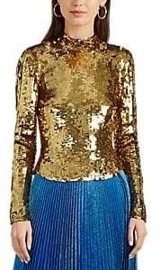 Osman Women's Sequined Top - Gold