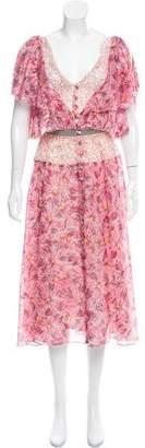 Peter Som Silk Midi Dress w/ Tags