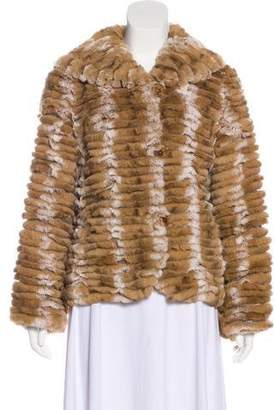 Neiman Marcus Fur Button-Up Jacket