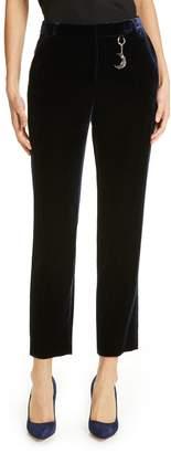 Ted Baker Plaat Velvet Crop Trousers
