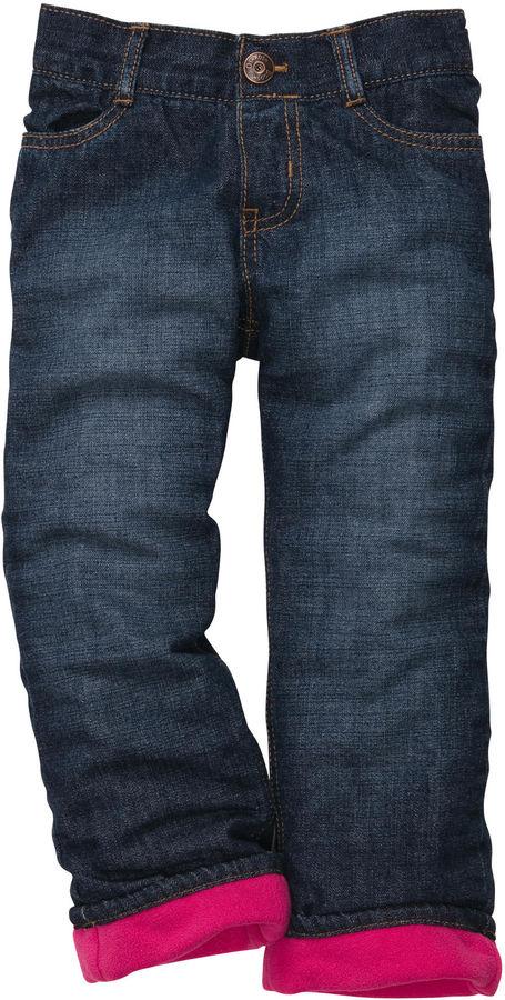 Osh Kosh Oshkosh Fleece-Lined Jeans-Sapphire Wash
