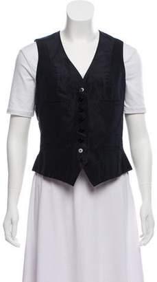 Ralph Lauren Silk Button-Up Vest