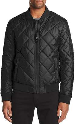 Andrew Marc Fletcher Quilted Bomber Jacket