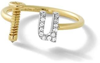 Alison Lou 14K Gold Screw U Ring