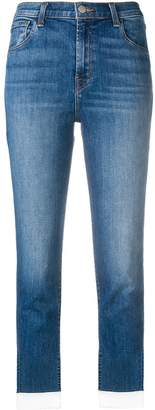 J Brand cropped faded jeans