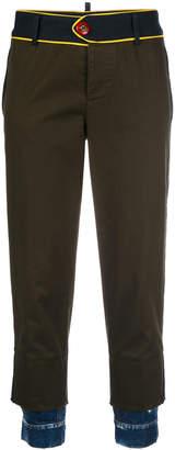 DSQUARED2 utilitarian trousers with denim cuffs