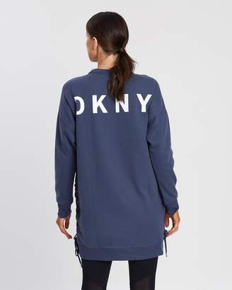 DKNY Logo Slouchy Sneaker Dress