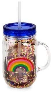 Tricoastal Design Graphic Straw Drink Bottle