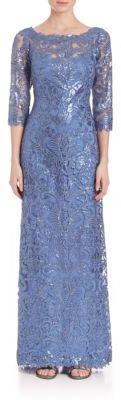 Tadashi Shoji Sequin Lace Gown $508 thestylecure.com
